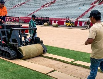 Agri division tested 'turfgrass' placed in Razorback Stadium